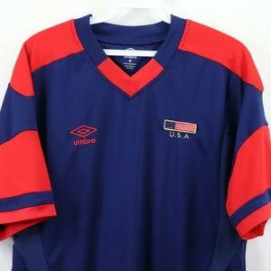 bde89f697c5 Umbro Shirts - Umbro Team USA World Cup Soccer Jersey Blue Medium